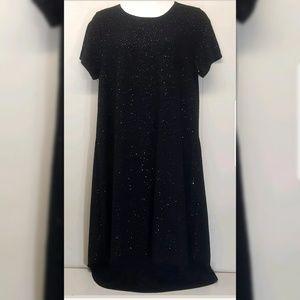 LuLaRoe 3XL CARLY Dress Hi Low Black Bling Sequins